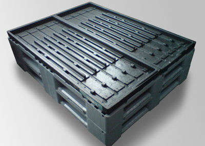 Automotive pallet for an individual blister solution.